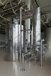 Brewing production - brewhouse, vacuum-evaporator